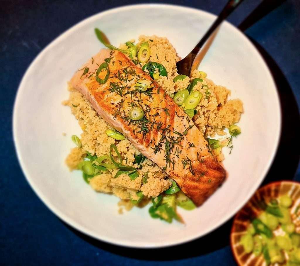 Couscous salade met Zalm