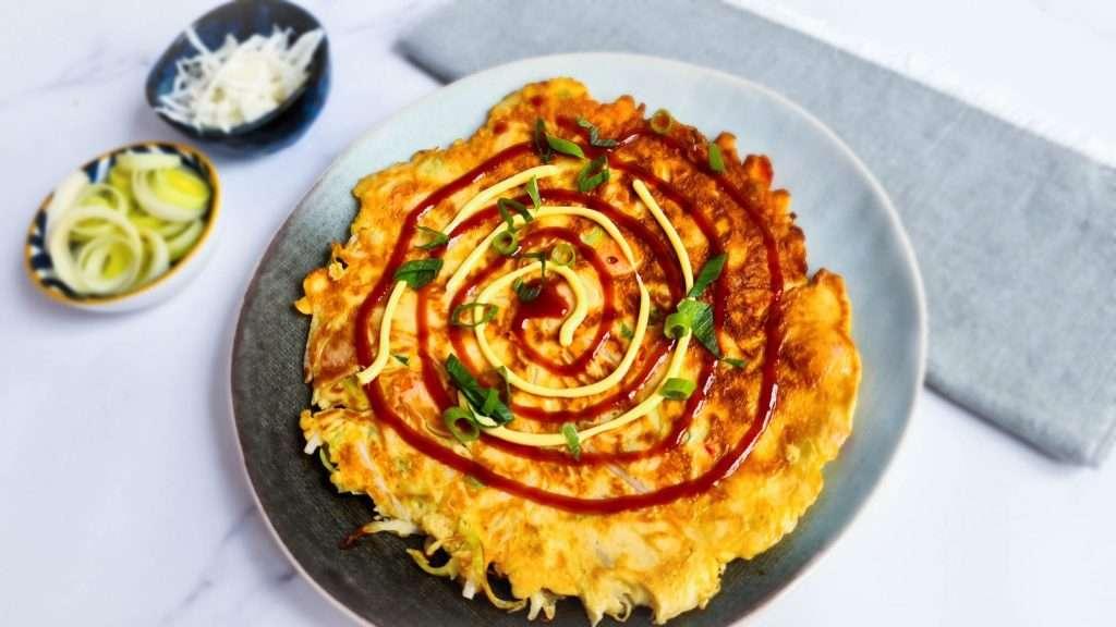 Hartige pannenkoek (Okonomiyaki)